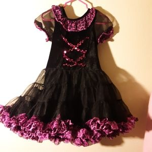 Black and hot pink toddlers dress 3T-4T